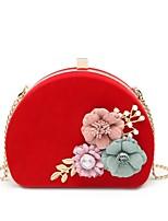cheap -Women's Bags Velvet Evening Bag Pearls / Flower for Wedding / Event / Party Black / Red / Fuchsia
