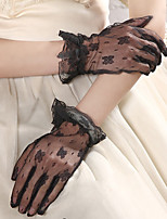 cheap -women's cute wrist length fingertips gloves - jacquard
