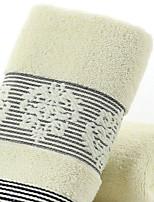 abordables -Qualité supérieure Serviette de bain, simple / Géométrique Polyester / Coton Salle de  Bain 1 pcs