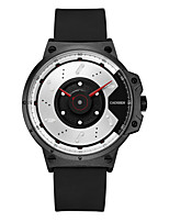 cheap -CADISEN Men's Sport Watch Japanese Water Resistant / Water Proof / Creative / Cool Silicone Band Fashion Black