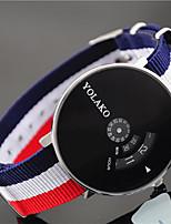 Недорогие -Жен. Наручные часы Китайский Повседневные часы Нейлон Группа Цветной / Мода Синий / Красный / Зеленый