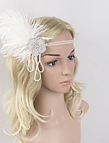 cheap -The Great Gatsby Vintage / 1920s Costume Women's Flapper Headband White Vintage Cosplay Feather Sleeveless