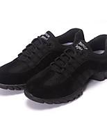 cheap -Women's Dance Sneakers Tulle Sneaker Low Heel Dance Shoes Black / Black / Red / Performance / Practice