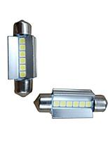 Недорогие -2pcs 39mm Автомобиль Лампы 6W 600lm 6 Светодиодная лампа Внутреннее освещение For Audi / Honda / Hyundai ML400 / GLE320 / GLA220 2018 /