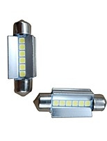 cheap -2pcs 39mm Car Light Bulbs 6W 600lm 6 LED Interior Lights For Audi / Honda / Hyundai ML400 / GLE320 / GLA220 2018 / 2017 / 2016
