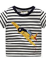 cheap -Kids / Toddler Boys' Striped / Print Short Sleeve Tee