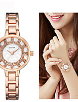 cheap -Women's Dress Watch / Wrist Watch Chinese New Design / Casual Watch / Imitation Diamond Alloy Band Fashion / Elegant Silver / Gold / Rose