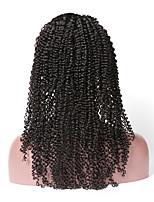 Недорогие -Remy Полностью ленточные Парик Бразильские волосы Кудрявый Парик 130% Природные волосы / С отбеленными узлами Жен. Длинные Парики из натуральных волос на кружевной основе