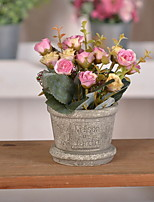 cheap -Artificial Flowers 1 Retro Roses Tabletop Flower / Included
