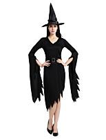 abordables -Bruja Accesorios Unisex Halloween Carnaval Dia de los Muertos Mascarada Festival / Celebración Disfraces de Halloween Negro Un Color