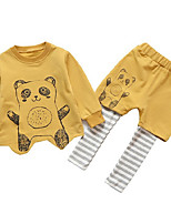 cheap -Kids Girls' Print Long Sleeves Clothing Set