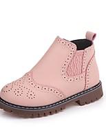 preiswerte -Mädchen Schuhe PU Herbst Schneestiefel Stiefel Elastisch für Draussen Weiß Rot Rosa
