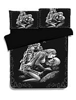 cheap -Duvet Cover Sets 3D Poly / Cotton 100% Cotton Reactive Print 3 Piece