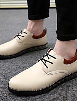 Недорогие -Муж. обувь Полиуретан Лето Удобная обувь Туфли на шнуровке Черный / Бежевый / Красный