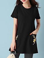 economico -t-shirt da donna - girocollo floreale
