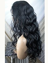 cheap -Remy Human Hair Wig Brazilian Hair Wavy Layered Haircut 130% Density With Baby Hair For Black Women Black Short Long Mid Length Women's