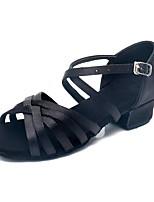 economico -Da ragazza Scarpe per balli latini Seta Tacchi Basso Personalizzabile Scarpe da ballo Nero / Al coperto / Da allenamento