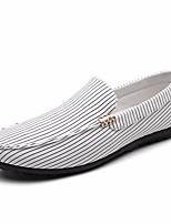 cheap -Men's Shoes Canvas Summer Comfort / Moccasin Loafers & Slip-Ons White / Black