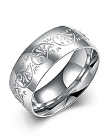 cheap -Men's Band Ring - 1 Circle Basic / Cool Silver Ring For Daily / Work