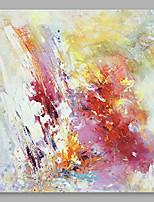 abordables -Peinture à l'huile Hang-peint Peint à la main - Abstrait Moderne Autres