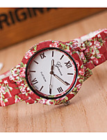 cheap -Women's Wrist Watch Chinese Casual Watch Plastic Band Flower / Fashion Red