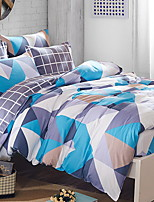 cheap -Duvet Cover Sets Geometric Poly / Cotton 100% Cotton Printed 3 Piece