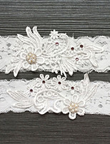 cheap -Lace Classic Jewelry / Vintage Style Wedding Garter 617 Rhinestone / Pearl Garters Wedding / Party & Evening
