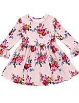 cheap -Toddler Girls' Floral Long Sleeve Dress