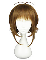 cheap -Synthetic Wig Straight Asymmetrical Haircut Synthetic Hair Cosplay Brown Wig Women's Short Capless / Yes