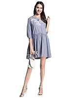 cheap -SHE IN SUN Women's Chinoiserie Shift Dress - Striped Lace