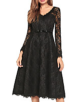 cheap -TS - Dreamy Land Women's Basic A Line Dress - Solid Colored Lace