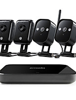 cheap -Zmodo® 4CH 720p HD Wireless Security System with 4 Outdoor Camera and Mini Network Video Recorder