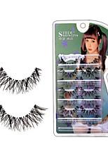 abordables -Œil 1 Etendu / Naturel / Bouclé Maquillage Quotidien Cils Entiers / l'Extrémité Est Plus Longue Maquillage Professionnel / Portable