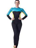 cheap -LIFURIOUS Women's 3mm Diving Suit High Elasticity Long Sleeve Solid Colored / Back Zipper