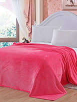 cheap -Coral fleece, Jacquard Solid Colored Cotton / Polyester Blankets / Flannel