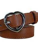 cheap -Women's Work / Basic Leather / Alloy Skinny Belt