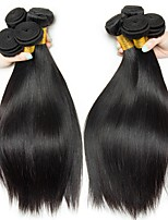 cheap -Indian Hair Straight Natural Color Hair Weaves / Extension / Human Hair Extensions 4 Bundles Human Hair Weaves Soft / Sexy Lady / Hot Sale Natural Black Human Hair Extensions Women's