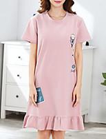 abordables -Col en U Nuisette & Culottes Pyjamas Femme Fleur