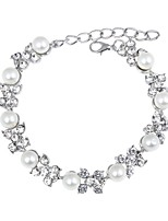 cheap -Women's Chain Bracelet / Bracelet - Imitation Pearl, Silver Plated Bracelet Silver For Daily / Ceremony