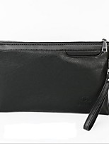 cheap -Men's Bags PU Clutch Zipper for Formal Black