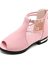 Недорогие -Девочки Обувь Полиуретан Лето Армейские ботинки Ботинки для Черный / Красный / Розовый