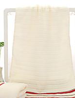 abordables -Qualité supérieure Serviette, Couleur Pleine / Rayé Polyester / Coton 1 pcs