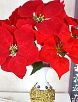 Недорогие -Искусственные Цветы 1 Филиал Традиционный / классический Пуансеттия Букеты на стол
