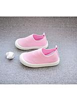 Недорогие -Девочки Обувь Полотно Весна Удобная обувь Мокасины и Свитер для Черный / Серый / Розовый