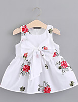cheap -Infant Girls' Floral / Color Block Sleeveless Dress