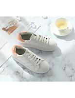 Недорогие -Жен. Обувь Кожа Весна / Осень Удобная обувь Кеды На плоской подошве Зеленый / Розовый