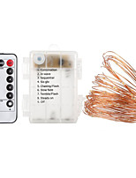 Недорогие -10 м Гирлянды 100 светодиоды 1 пульт дистанционного управления Keys Тёплый белый Холодный белый Водонепроницаемый Пробка для бутылок с