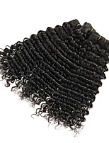 cheap -Indian Hair Wavy Natural Color Hair Weaves / Extension / Human Hair Extensions Human Hair Weaves Extention / Hot Sale Natural Black All