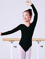 abordables -Danse classique justaucorps Femme Entraînement / Utilisation Coton Ruché Manches Longues Taille moyenne Collant / Combinaison