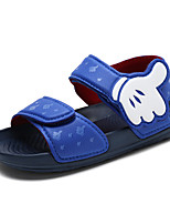 cheap -Boys' Shoes Leather Spring & Summer Comfort Sandals Buckle for Black / Red / Blue